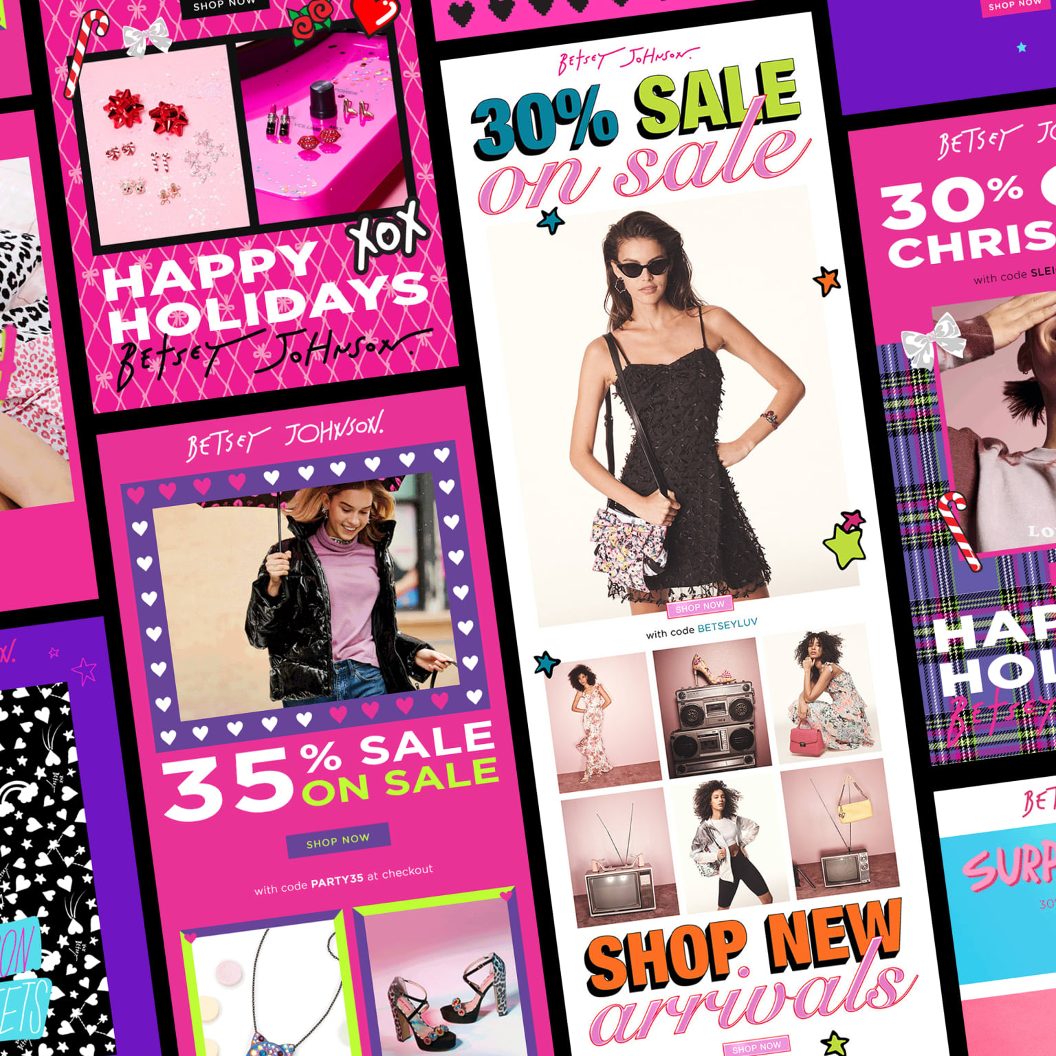BETSEY JOHNSON EMAIL DESIGNS