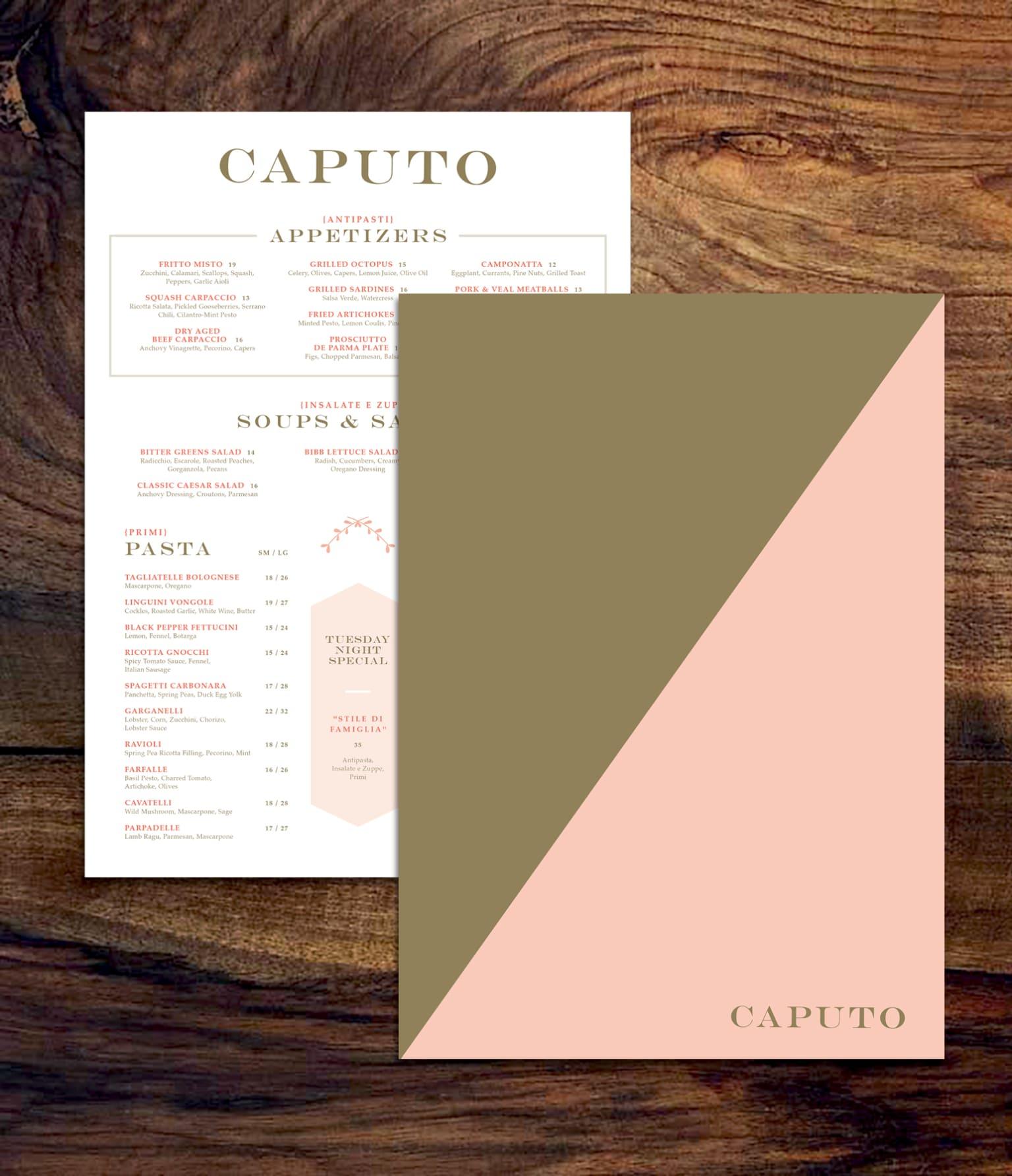 Branding for Caputo Trattoria & Caputo Pizzeria