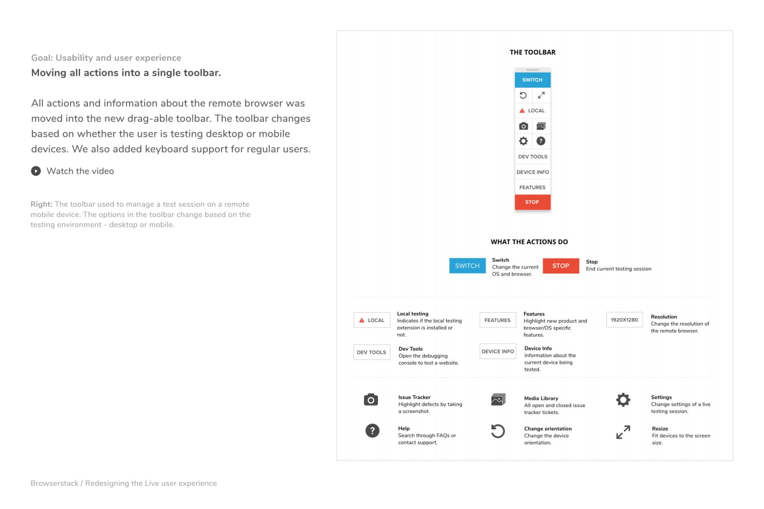 Redesigning BrowserStack's Live user experience.