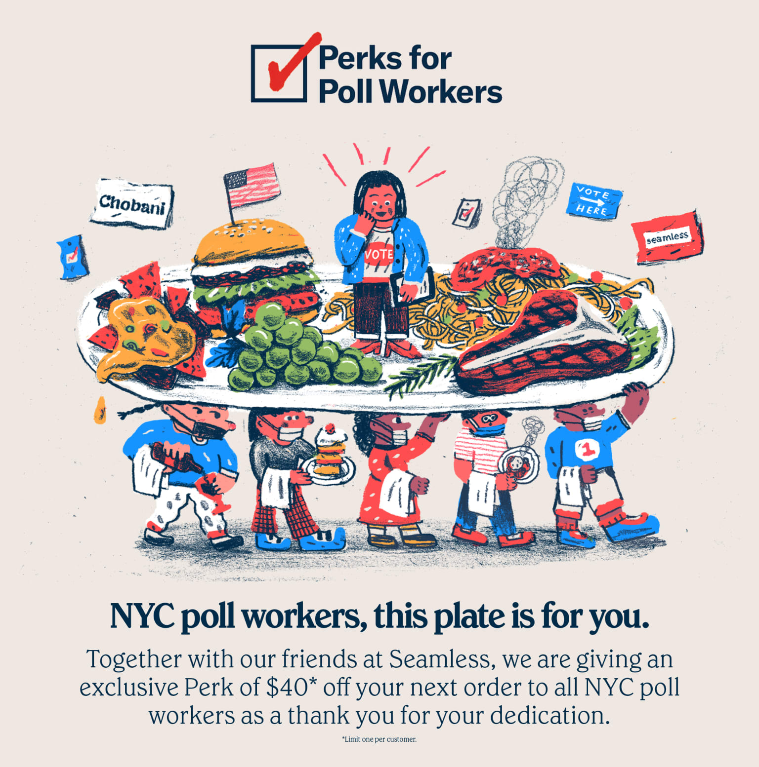 Chobani Campaign–Perks for Poll Workers