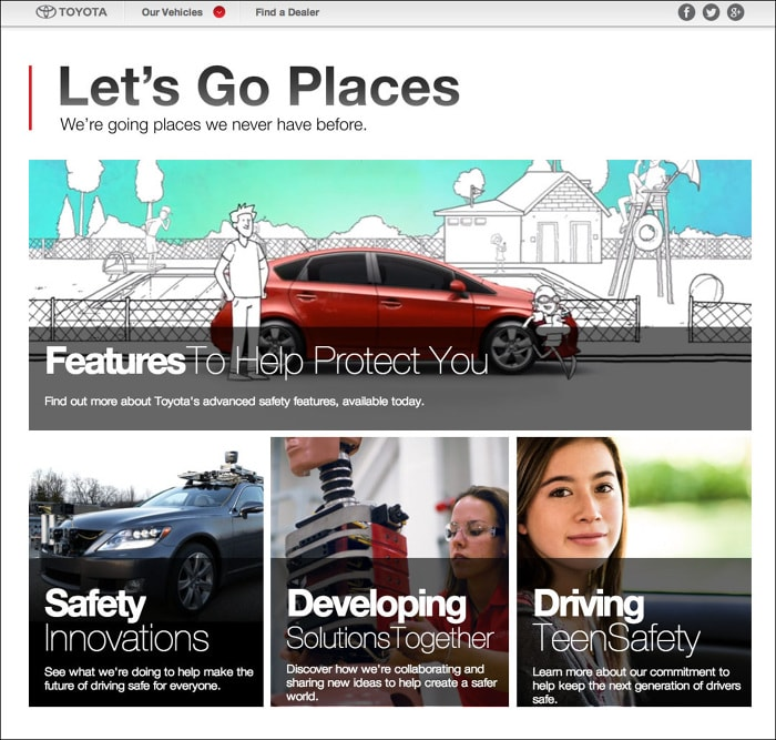 Toyota • Let's Go Places, Safely