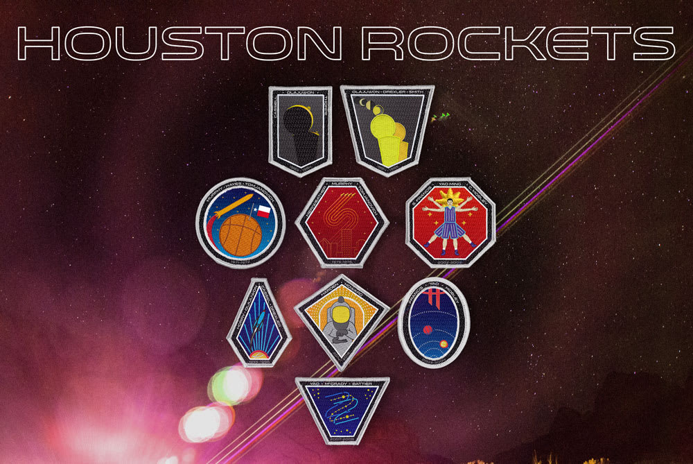 Houston Rockets Space Patches