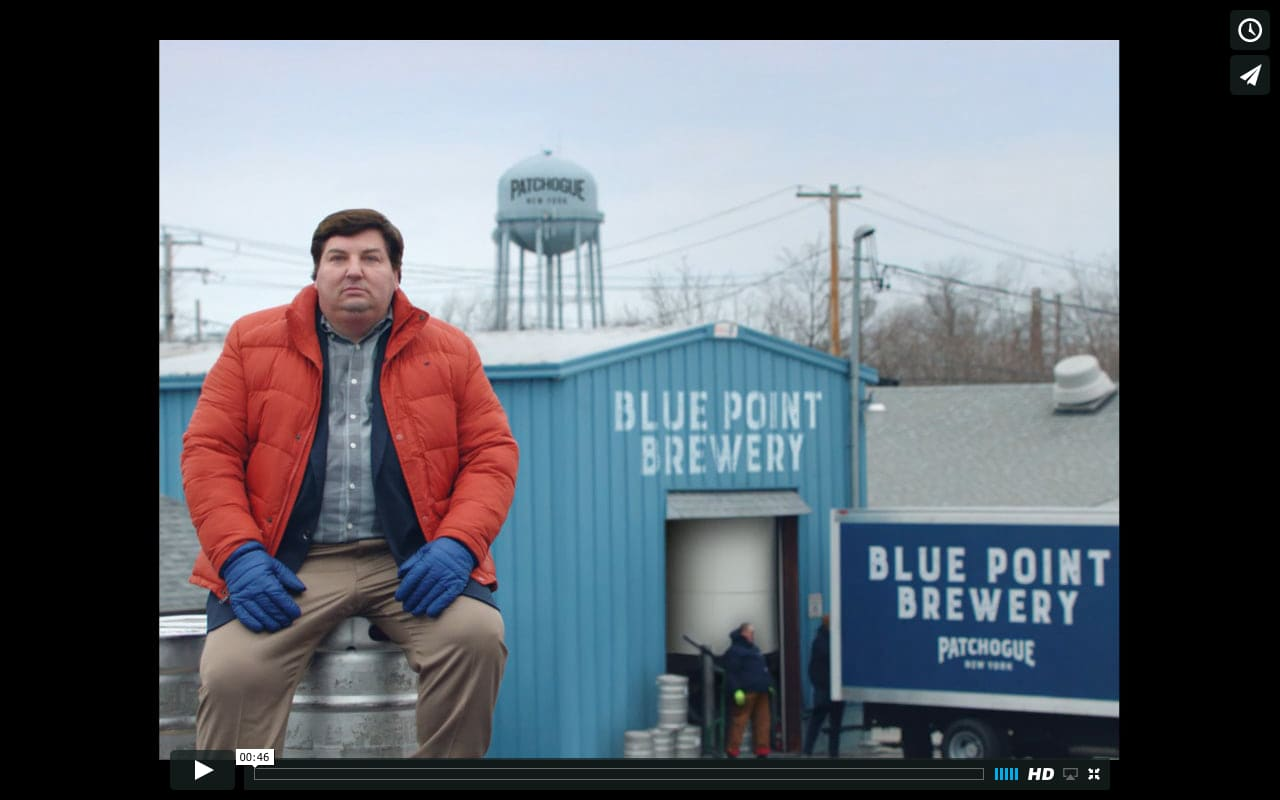 """Blue Point Brewery - """"Come to Patchogue"""""""