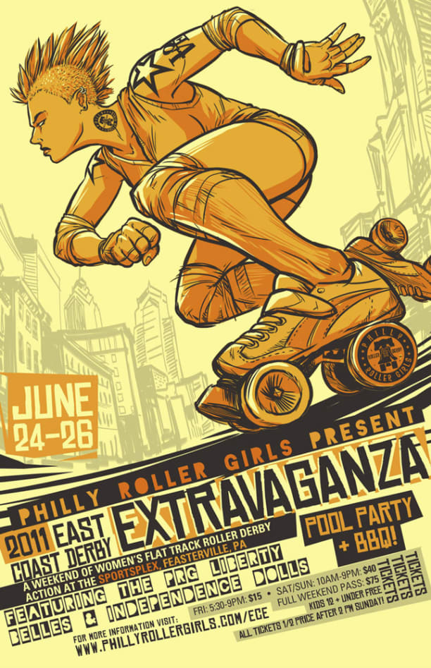 Philly Roller Derby Posters