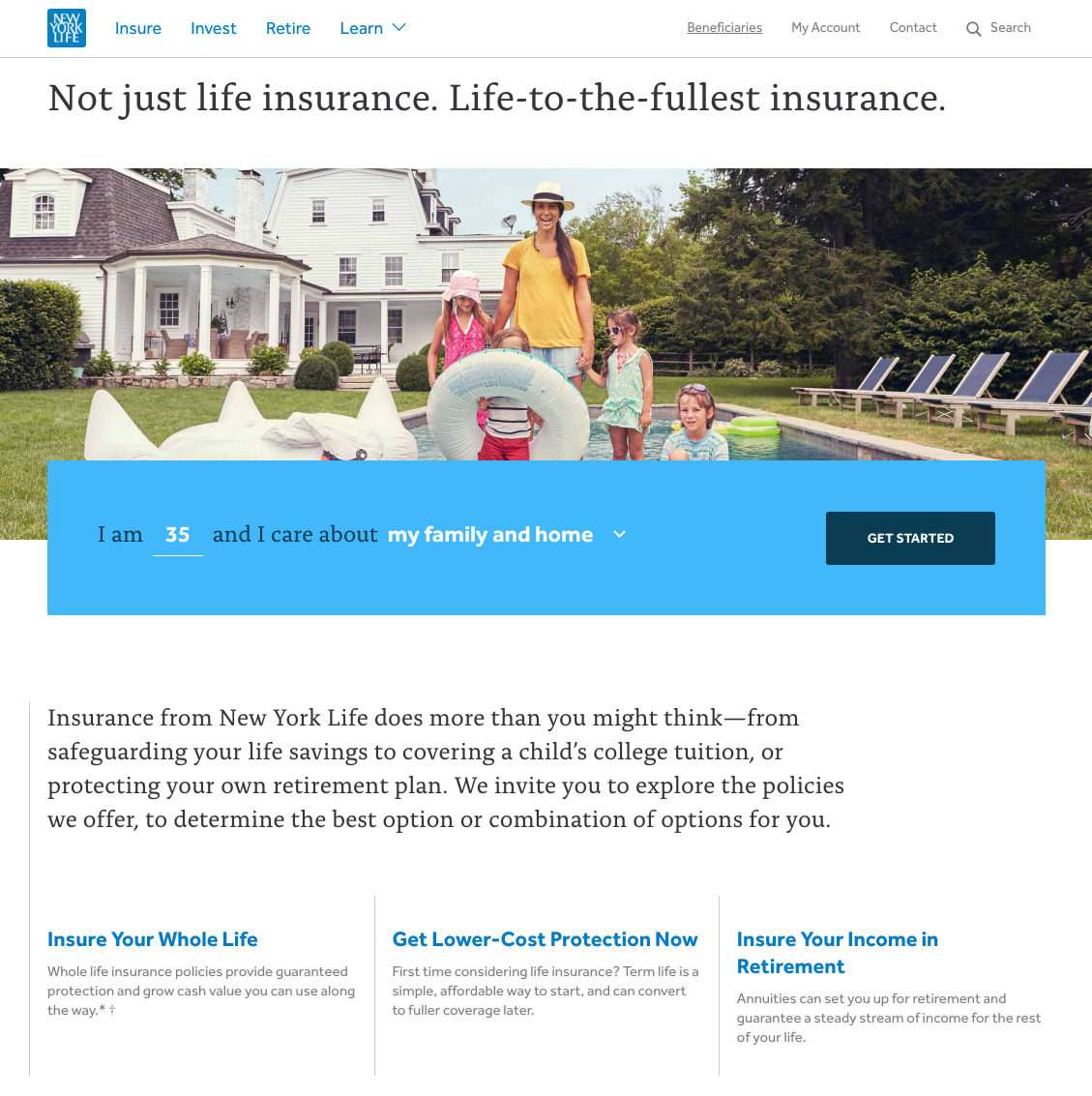 New York Life Site Relaunch