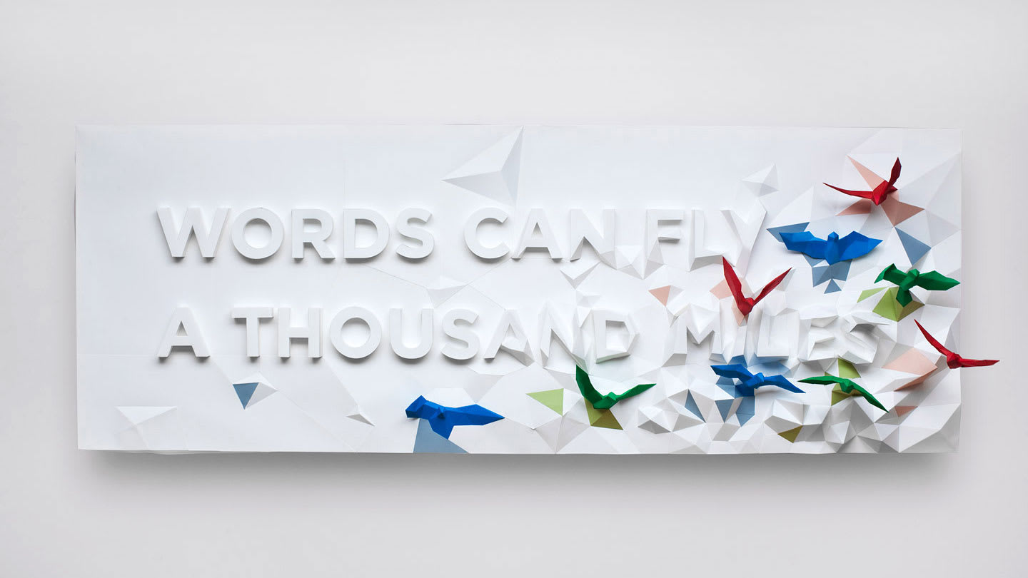 Words Can Fly a Thousand Miles
