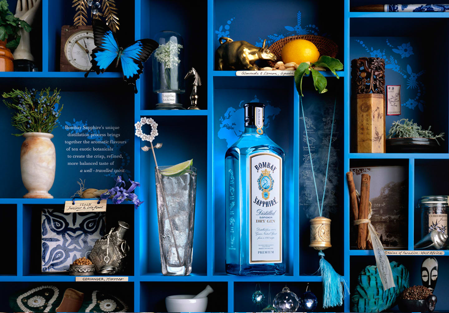Bombay Sapphire / Shadowboxes