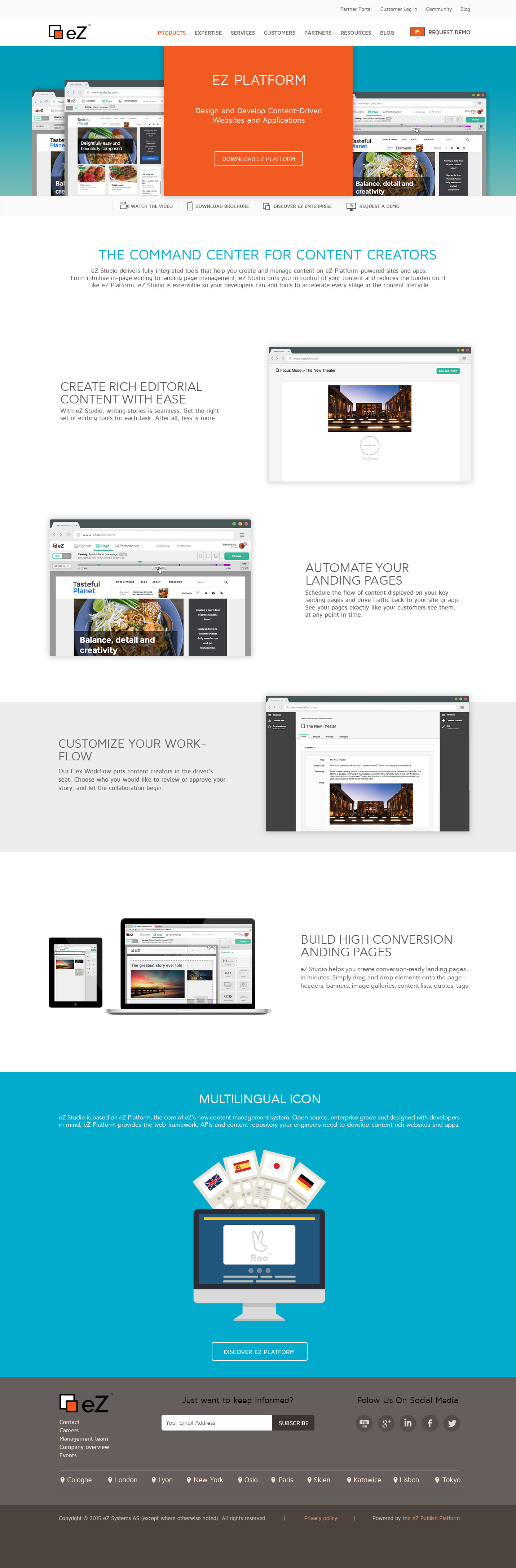 Landing Page and Illustration