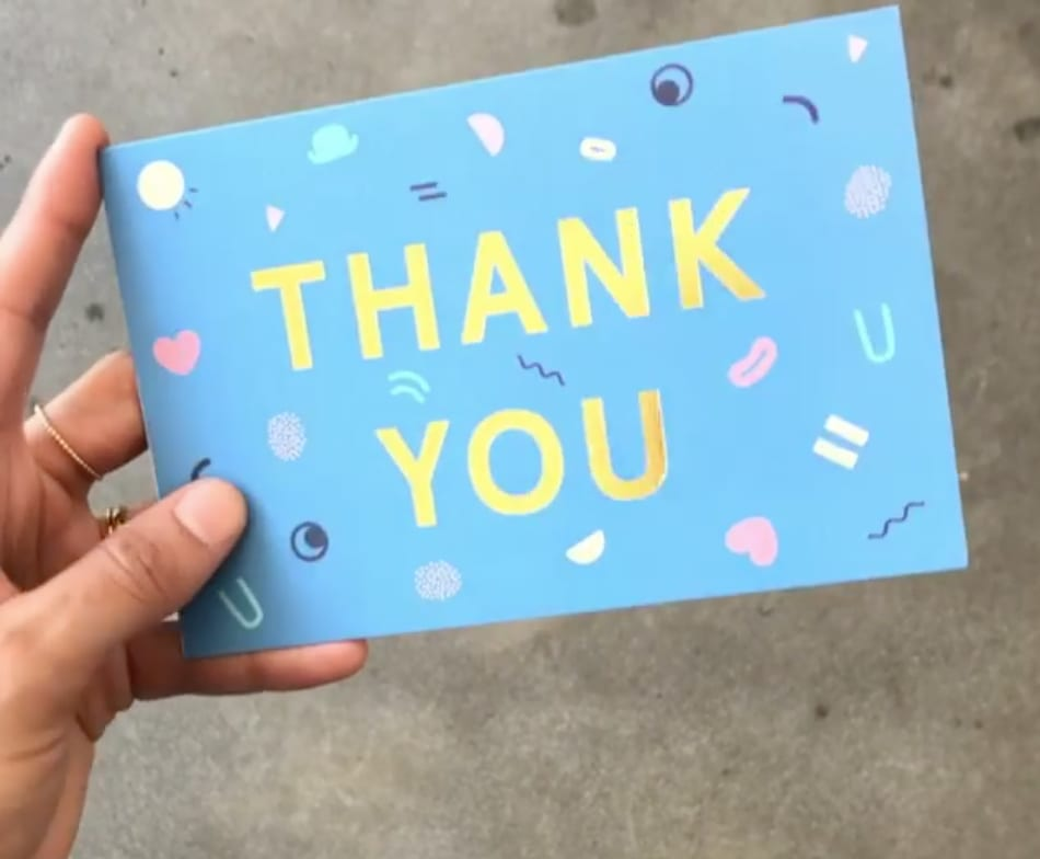 Thank You cards for Headspace