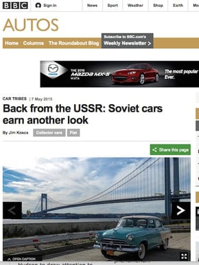Back from the USSR: Soviet Cars Earn Another Look