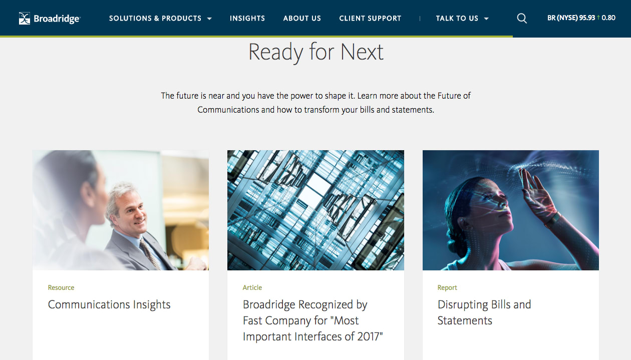 Broadridge Financial Solutions: READY FOR NEXT