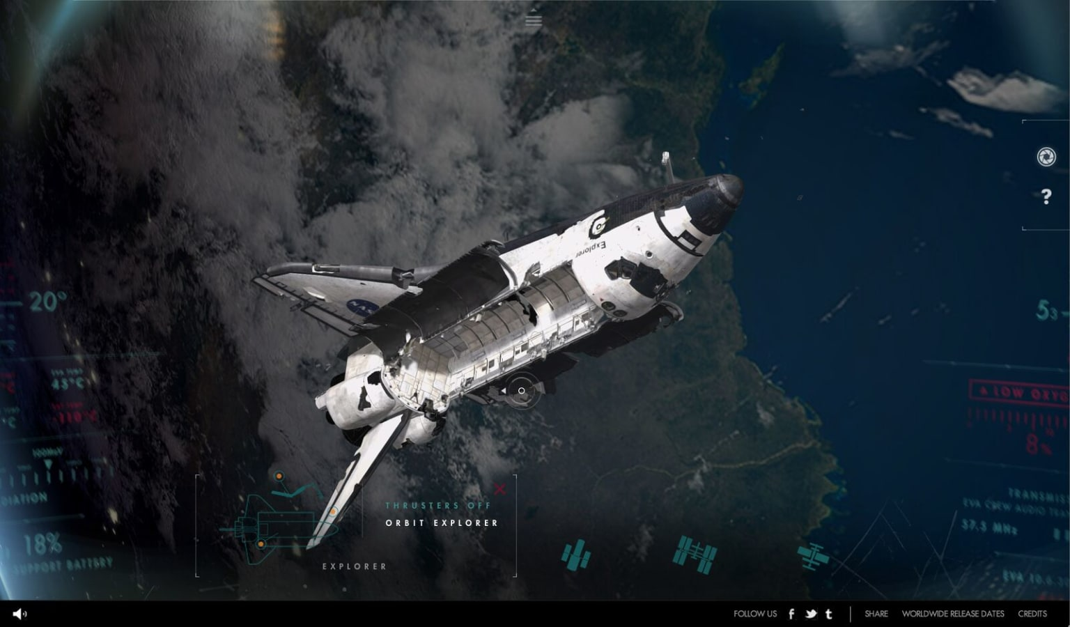 Gravity - WebGL experience & official movie site