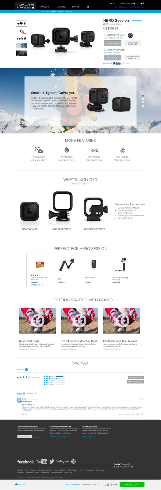 GoPro   Product Page Redesign