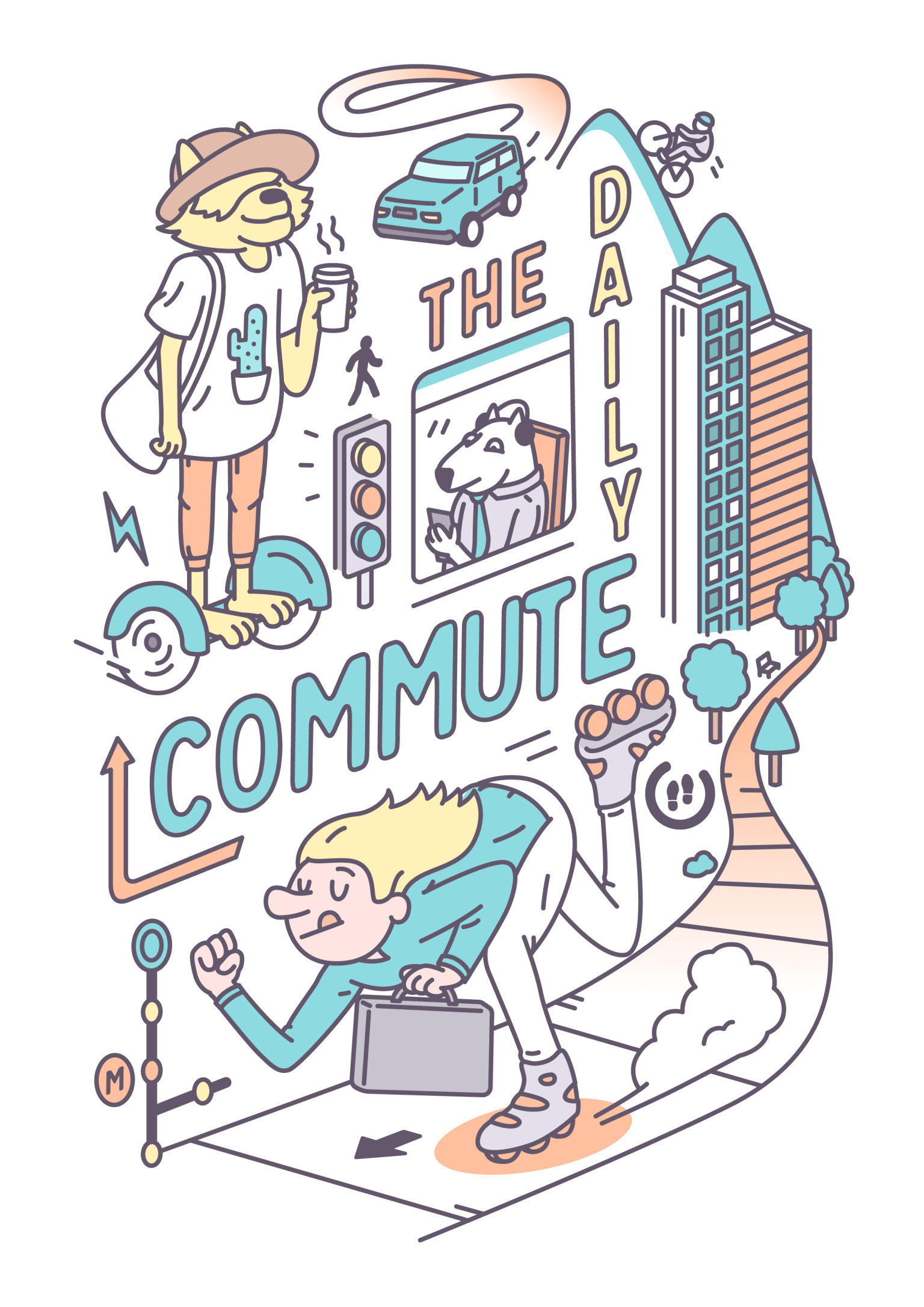 The daily commute - poster