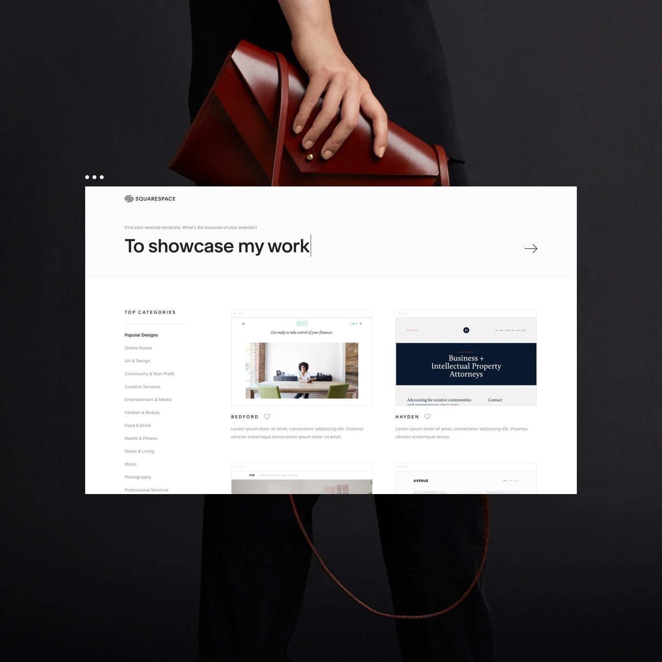 Squarespace Template Store