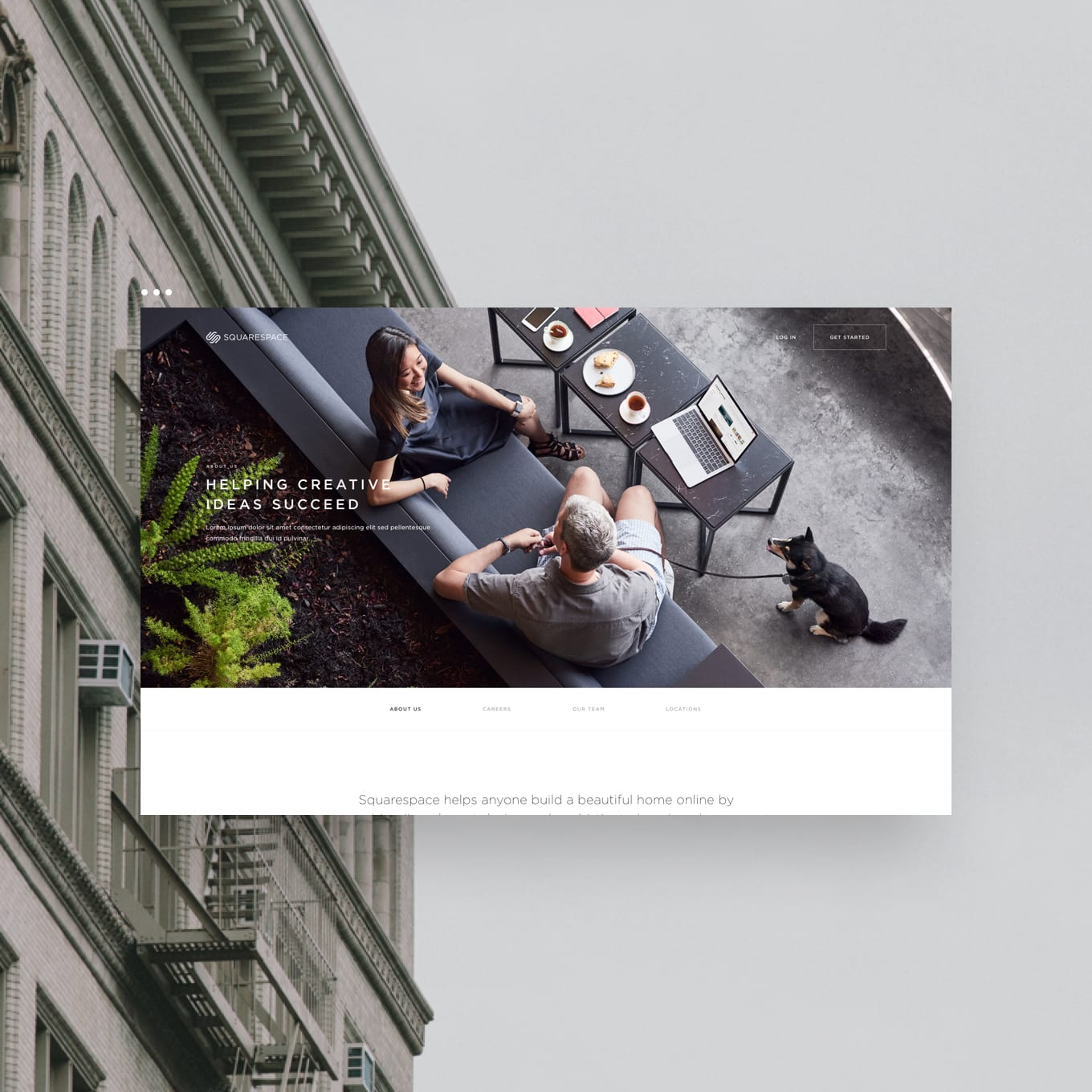 Squarespace Company Pages