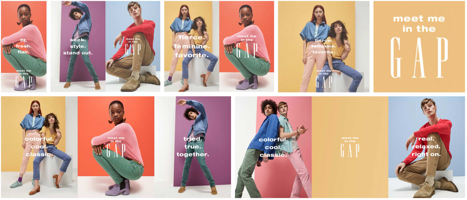 Meet Me In The Gap - Experiment In Color Spring Campaign
