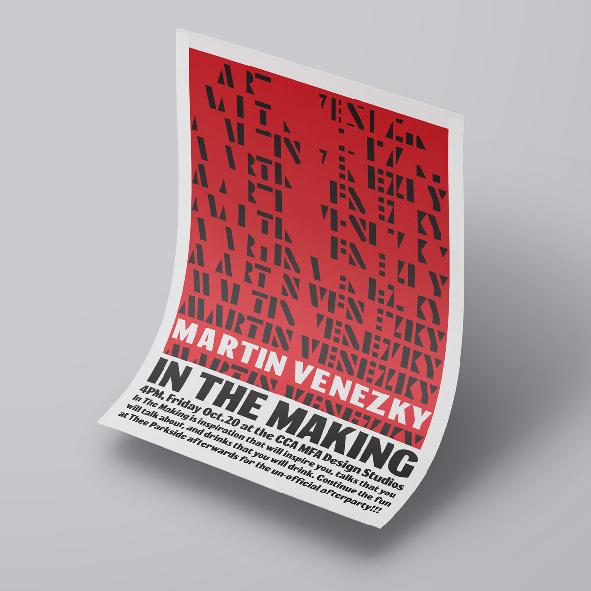 Martin Venezky Lecture Poster