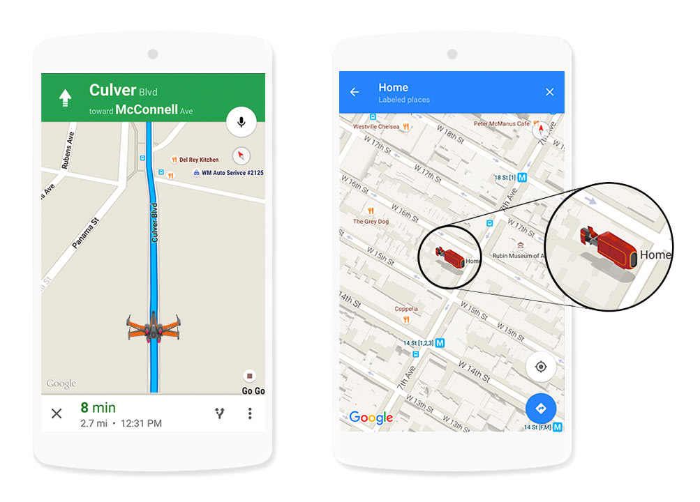 Google: Maps Product Updates for Star Wars