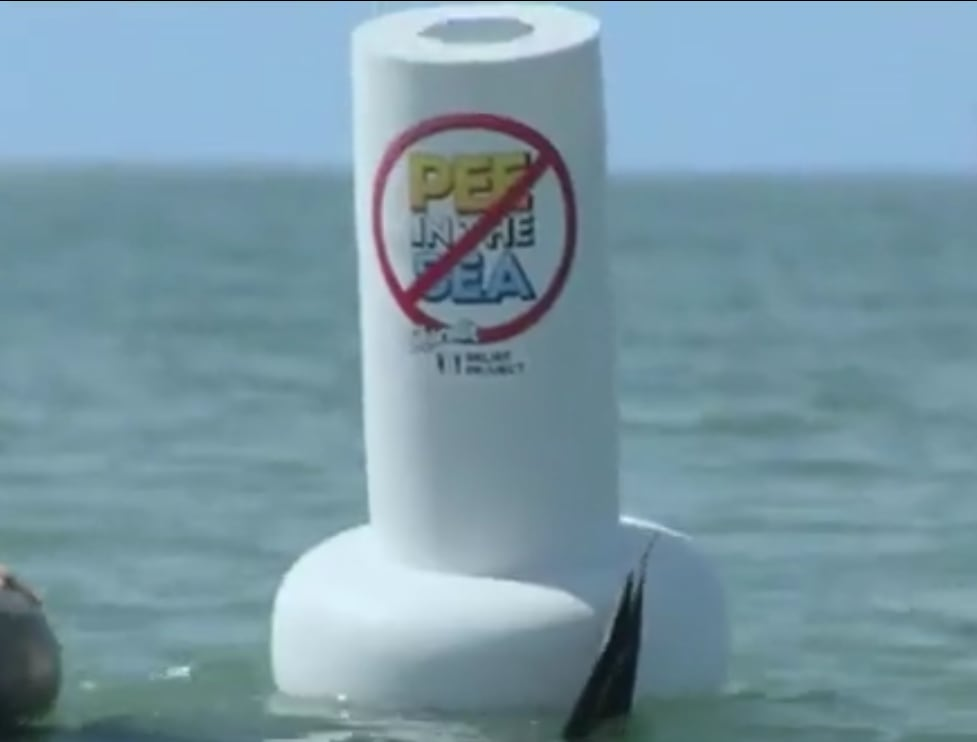 """""""Don't Pee in the Sea"""" a Charmin relief project"""