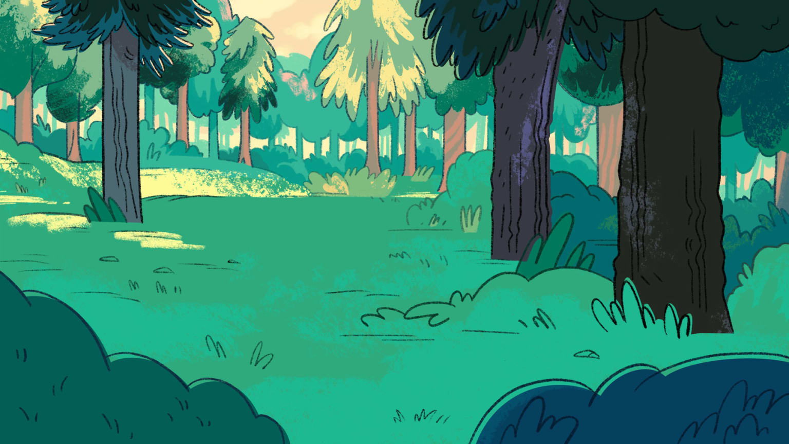 Forest Background Paintings