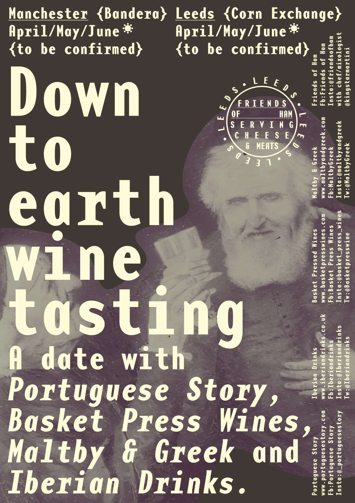 Poster for Down to Earth Wine Tasting