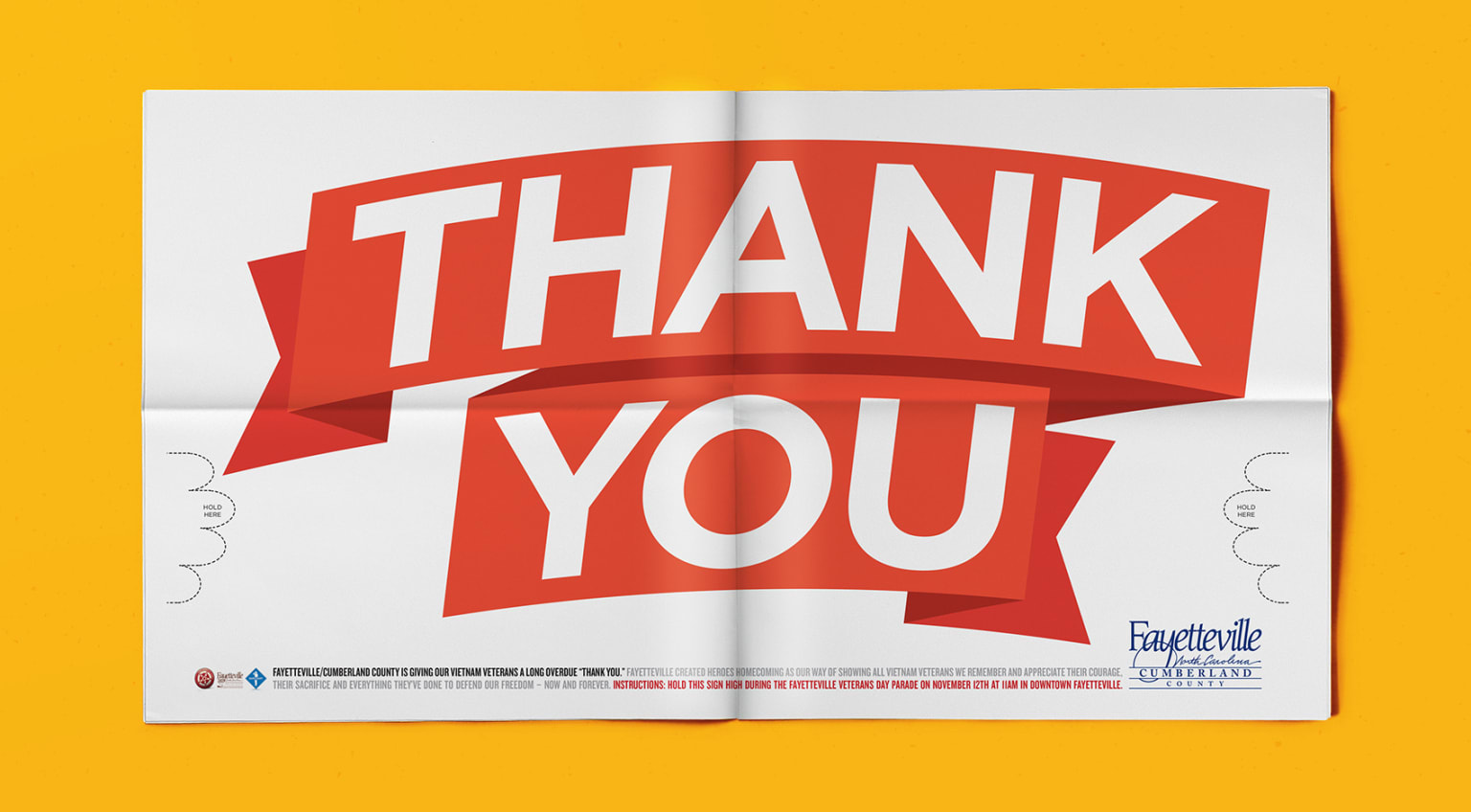 Fayetteville Thank You banner/ad