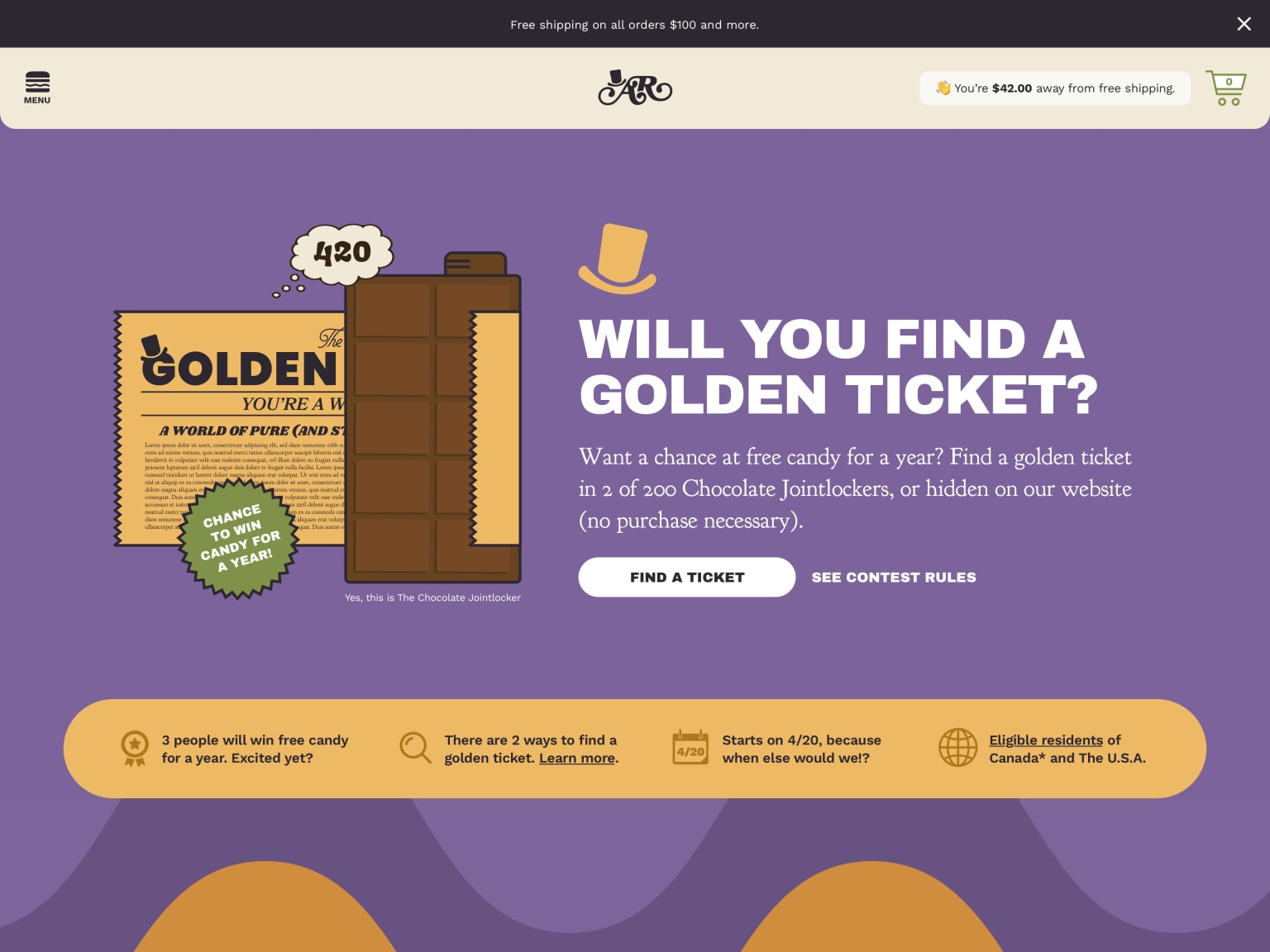 Another Room – Golden Ticket Campaign