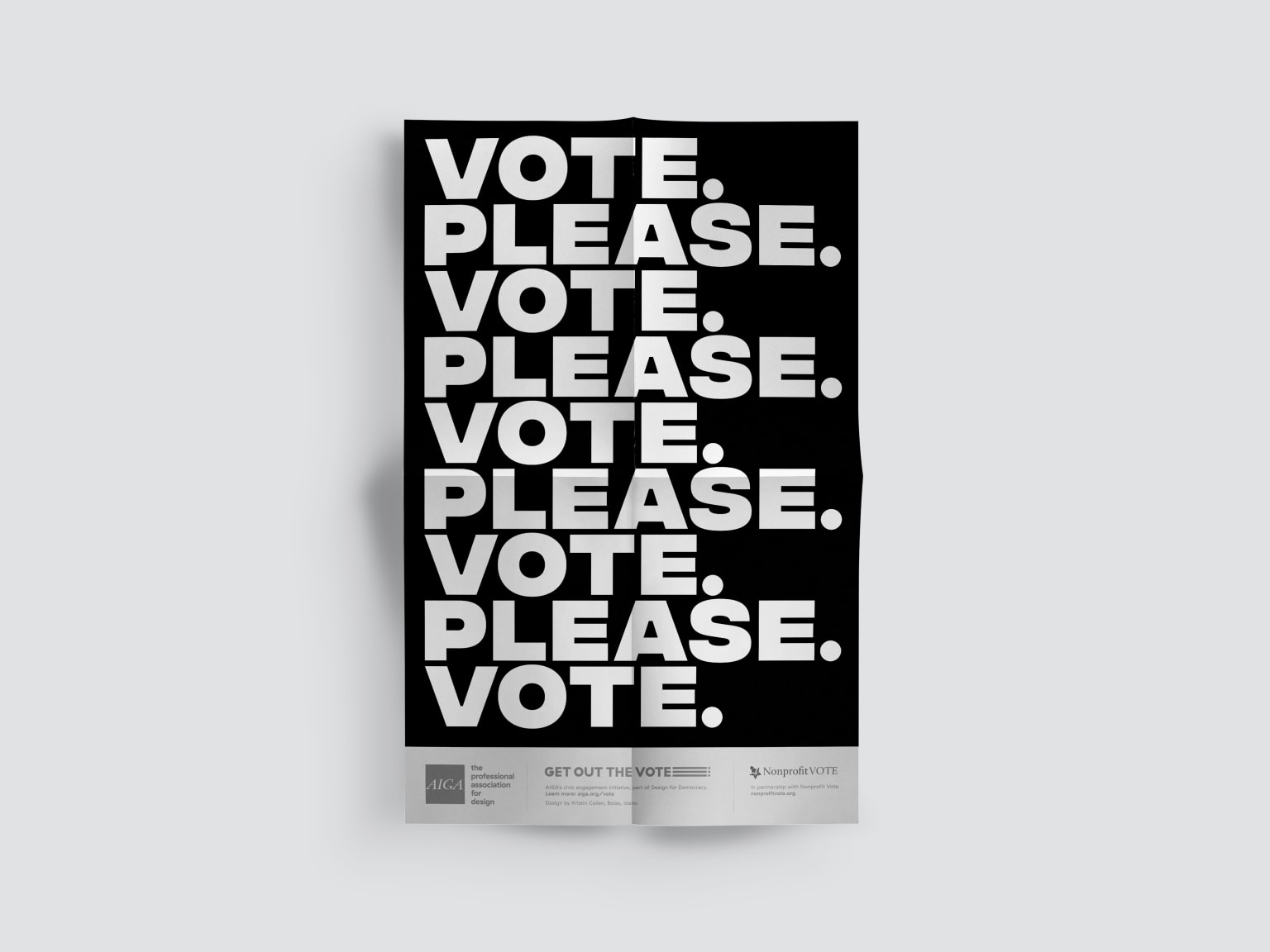 AIGA Get Out the Vote Campaign