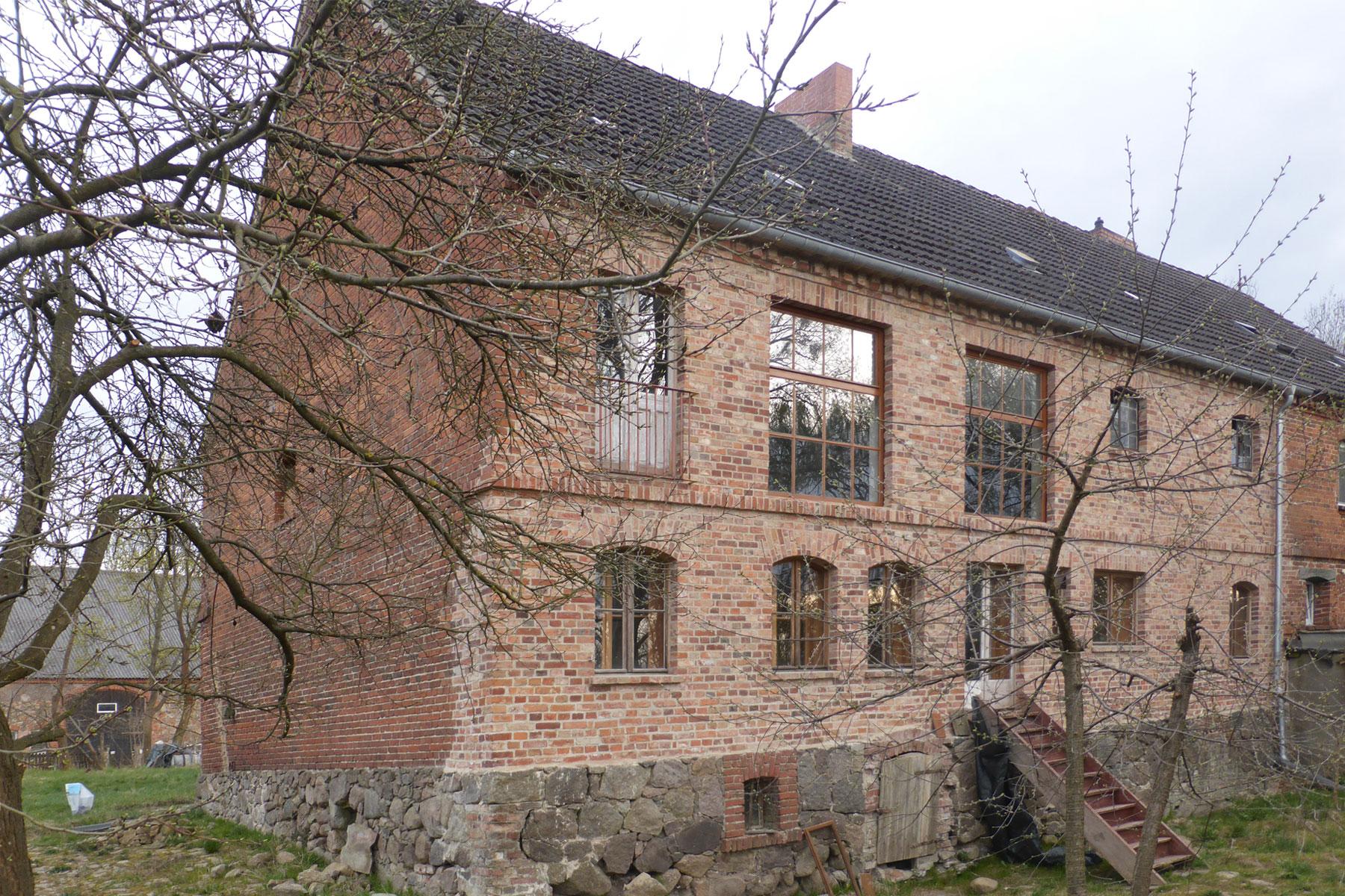 Schrotmühle Mauerwerk