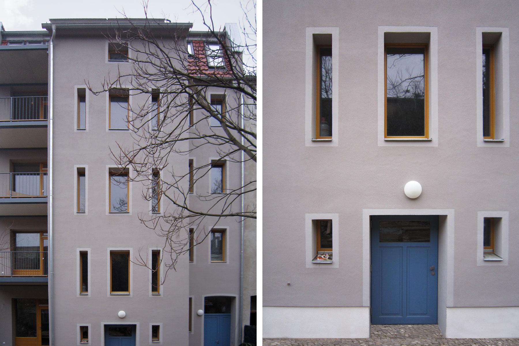 Mietshaus Kinder-Tageseinrichtung Fassade