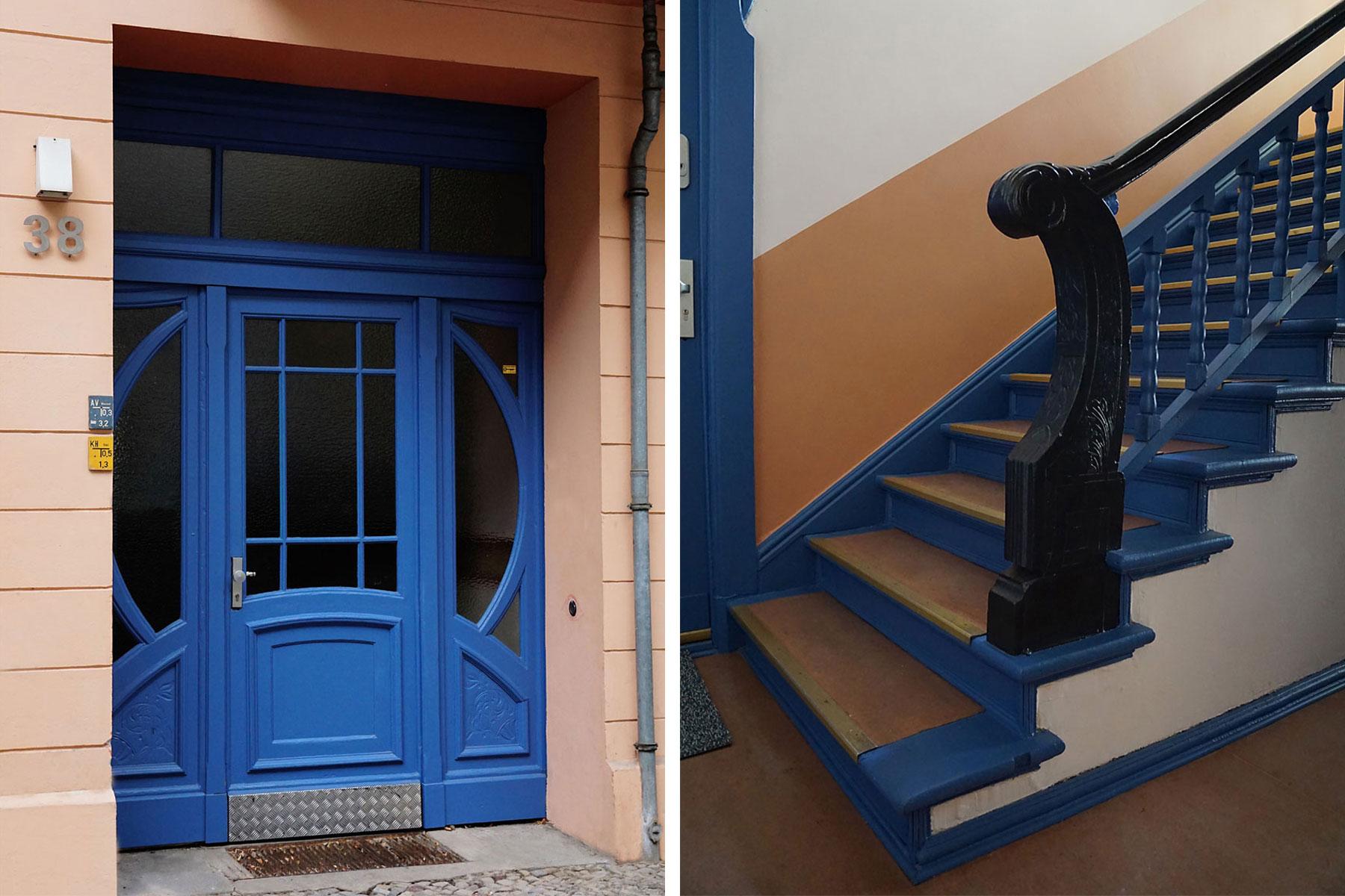 Eingangstür Holz Treppenhaus