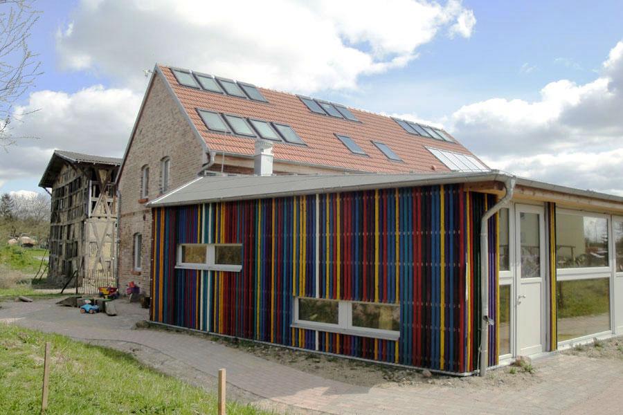 Mauerwerk Holzständerwerk Holzfassade