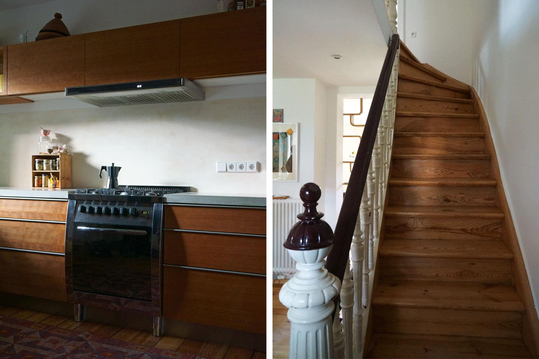 Fliegerviertel Küche Treppe