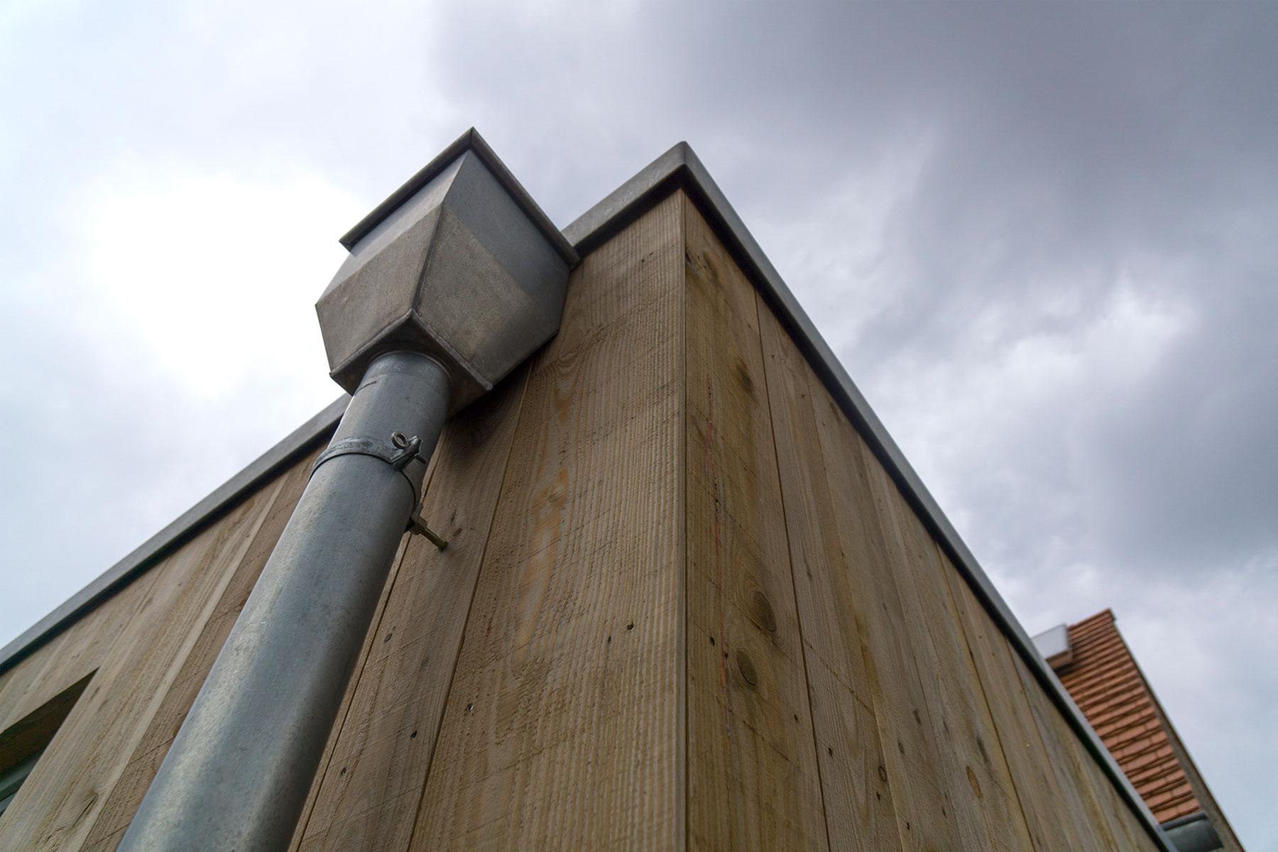 Holzrahmenbau Wasserfangkasten