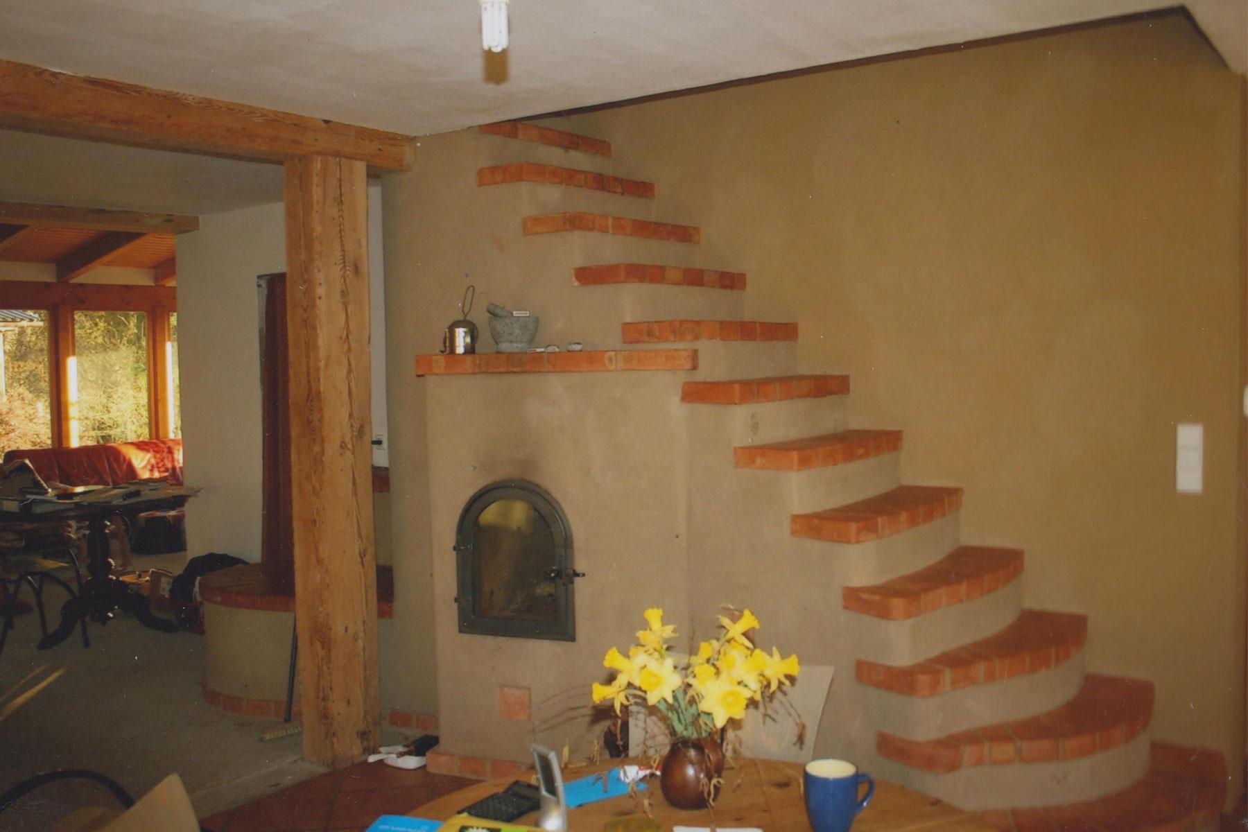 Lehmgrundofen Treppe