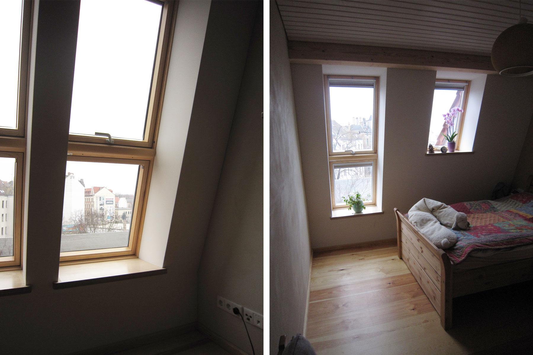 Dachflächenfenster Lehmputz
