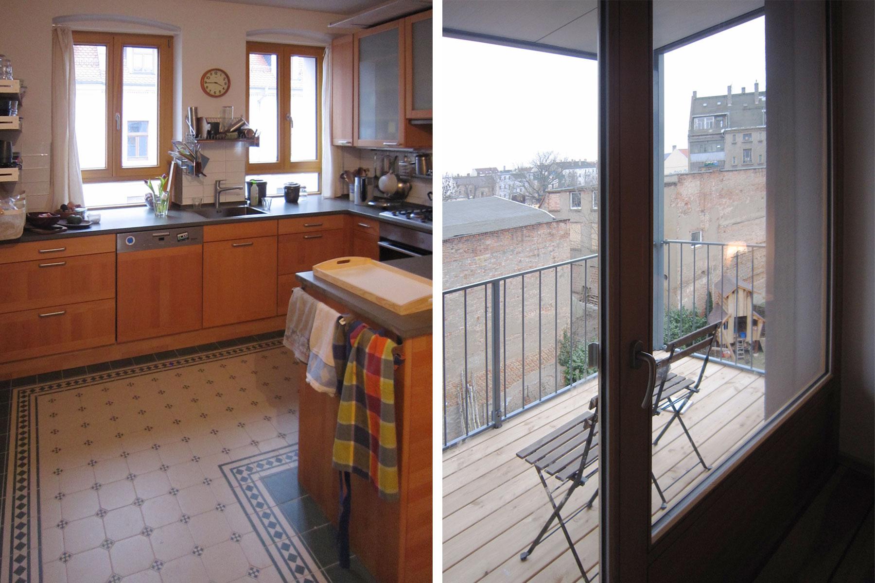 Küche Balkon