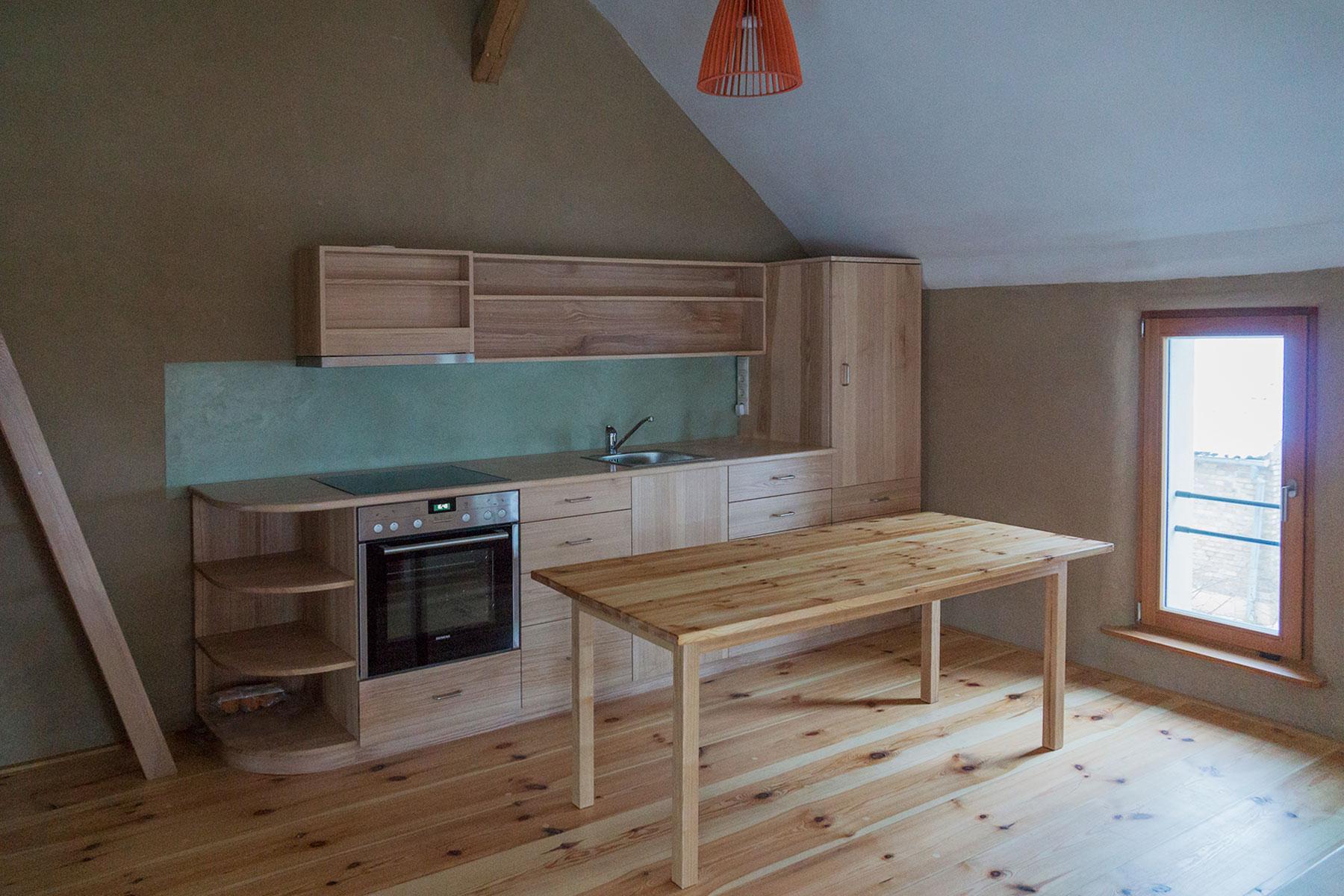 Lehmputz Küche
