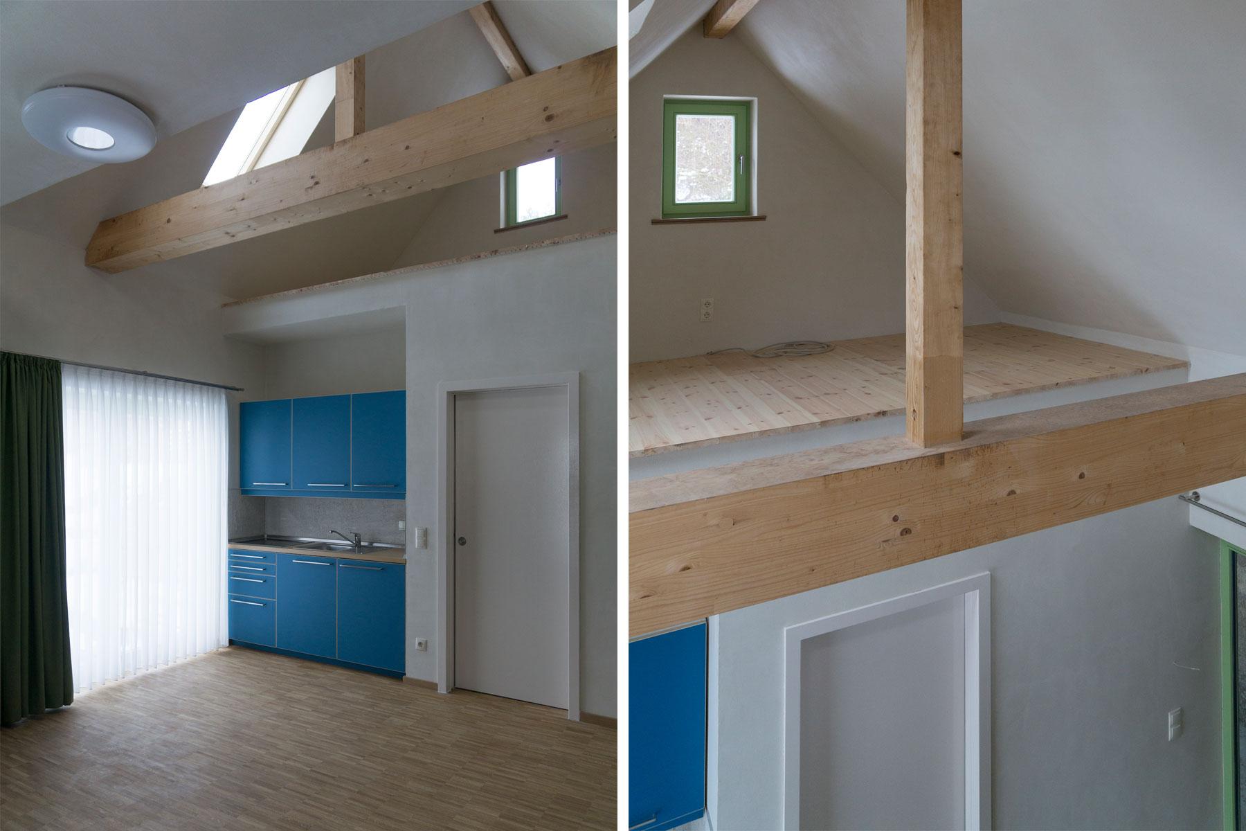Tiny-house Holzrahmenbau Innenraum