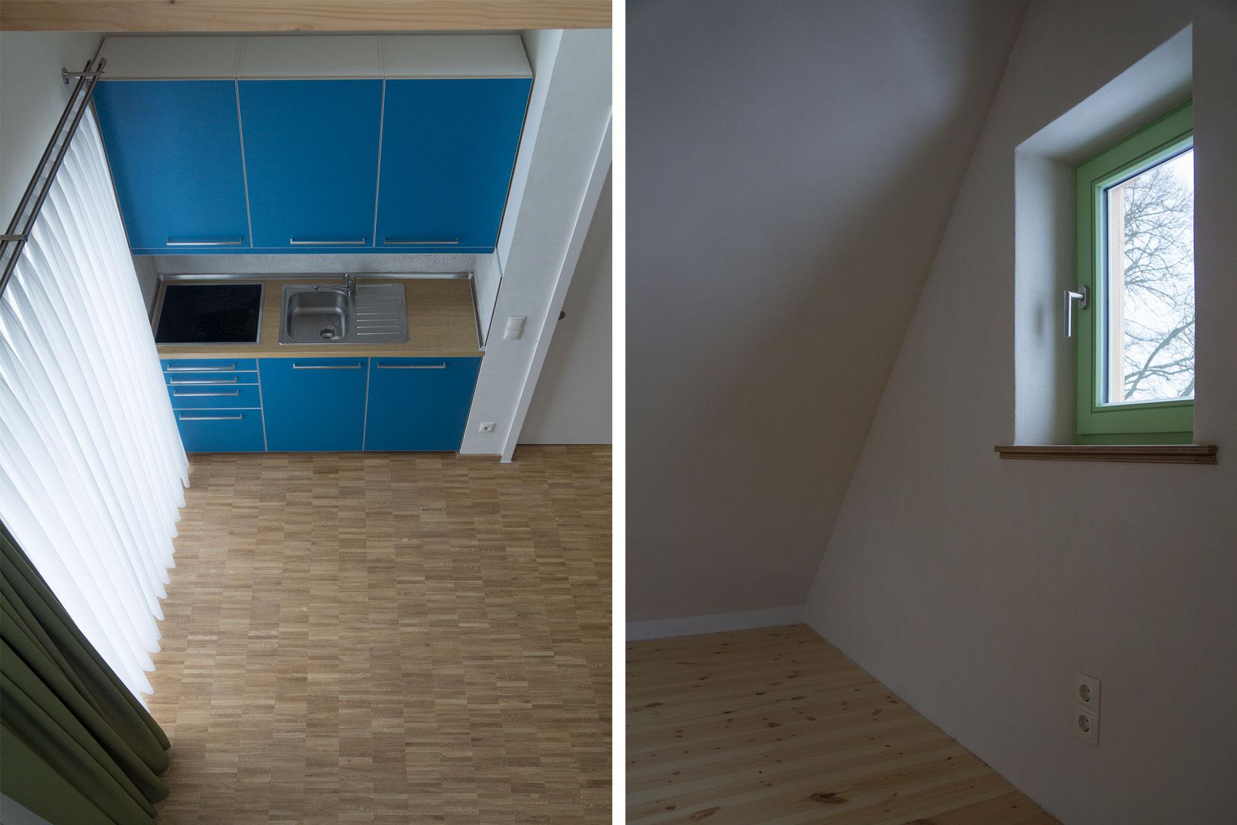 Tiny-house Holzrahmenbau Küche