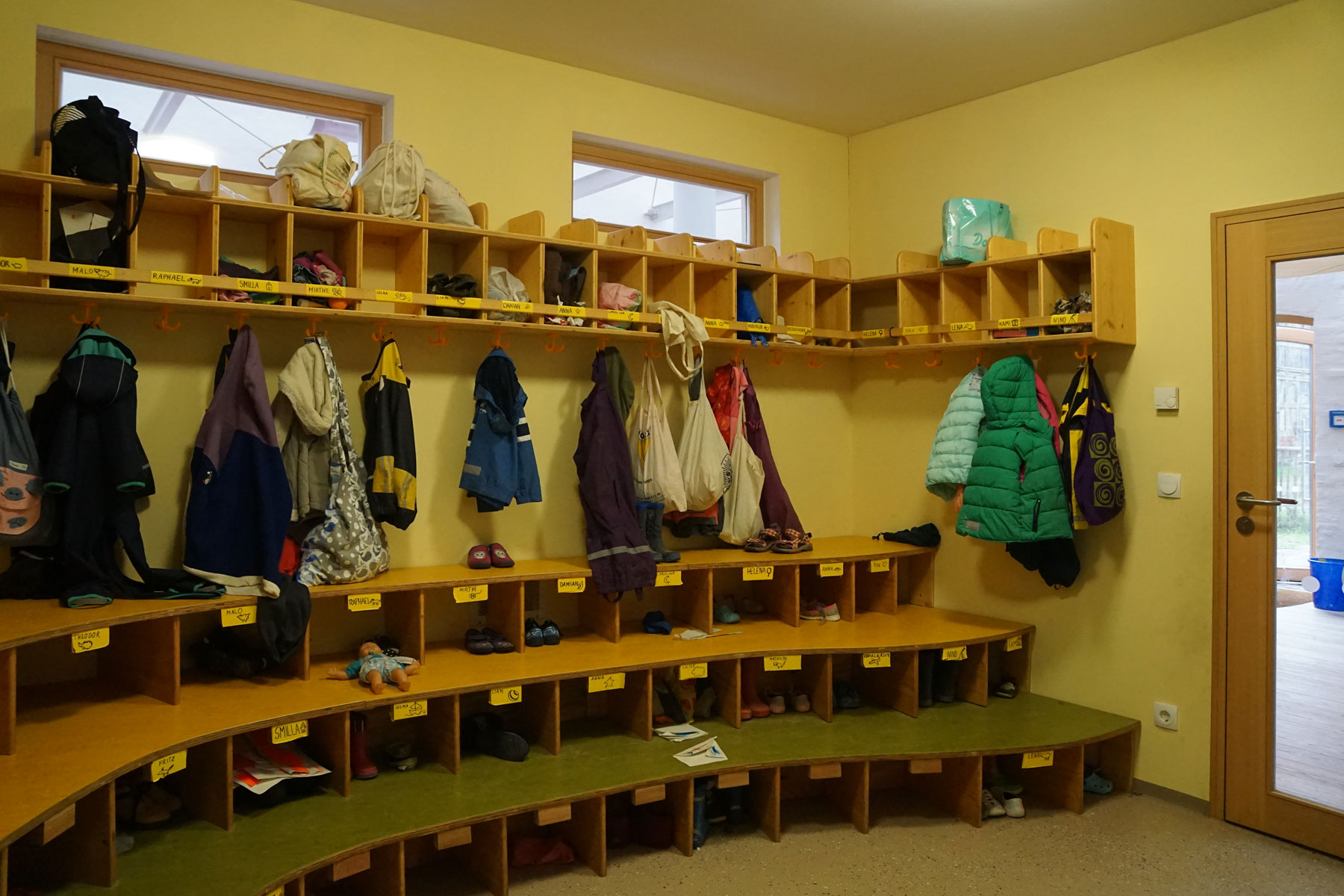 Kinder-Garderobe