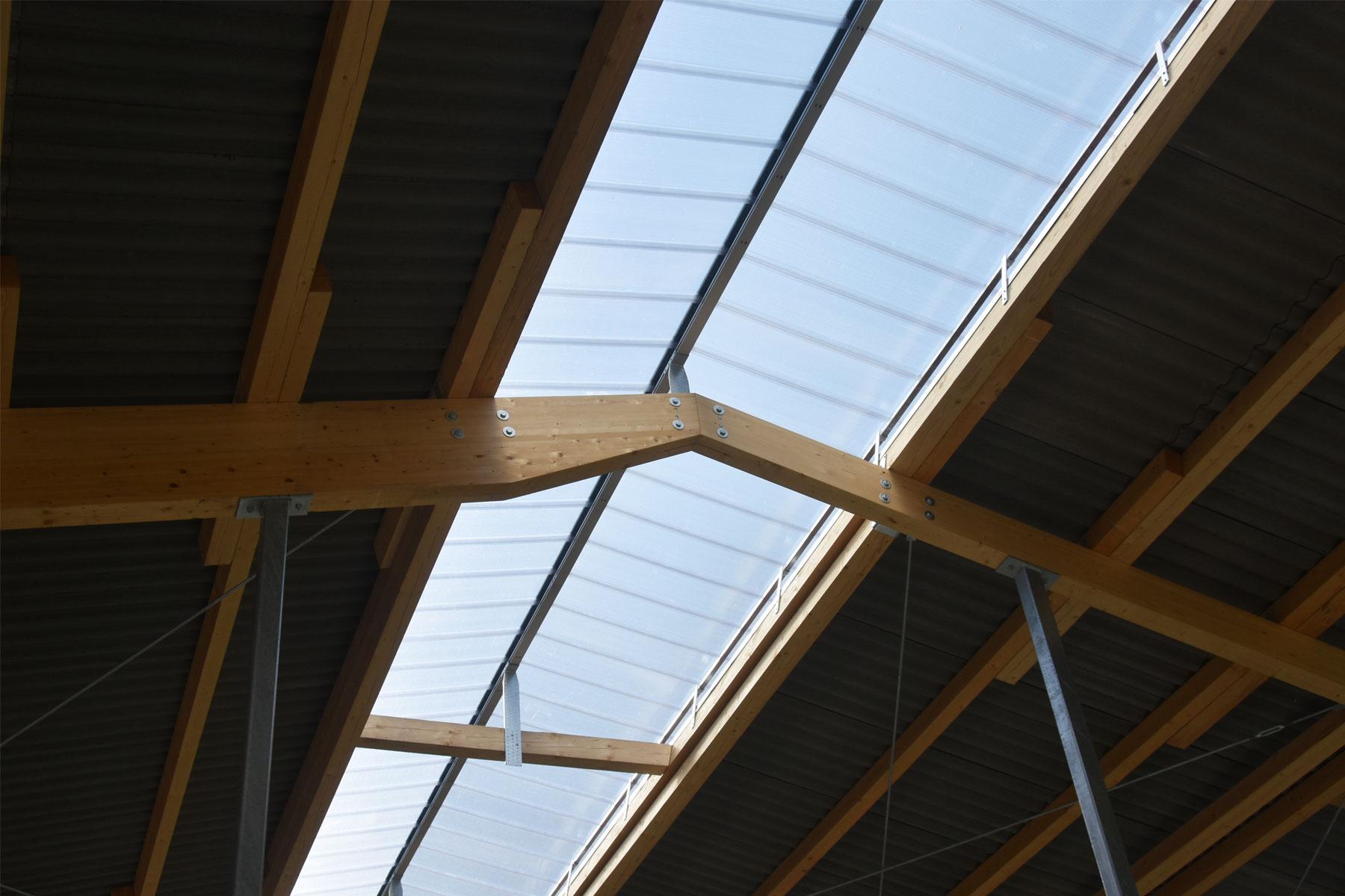 Stallgebäude Stahl Holz