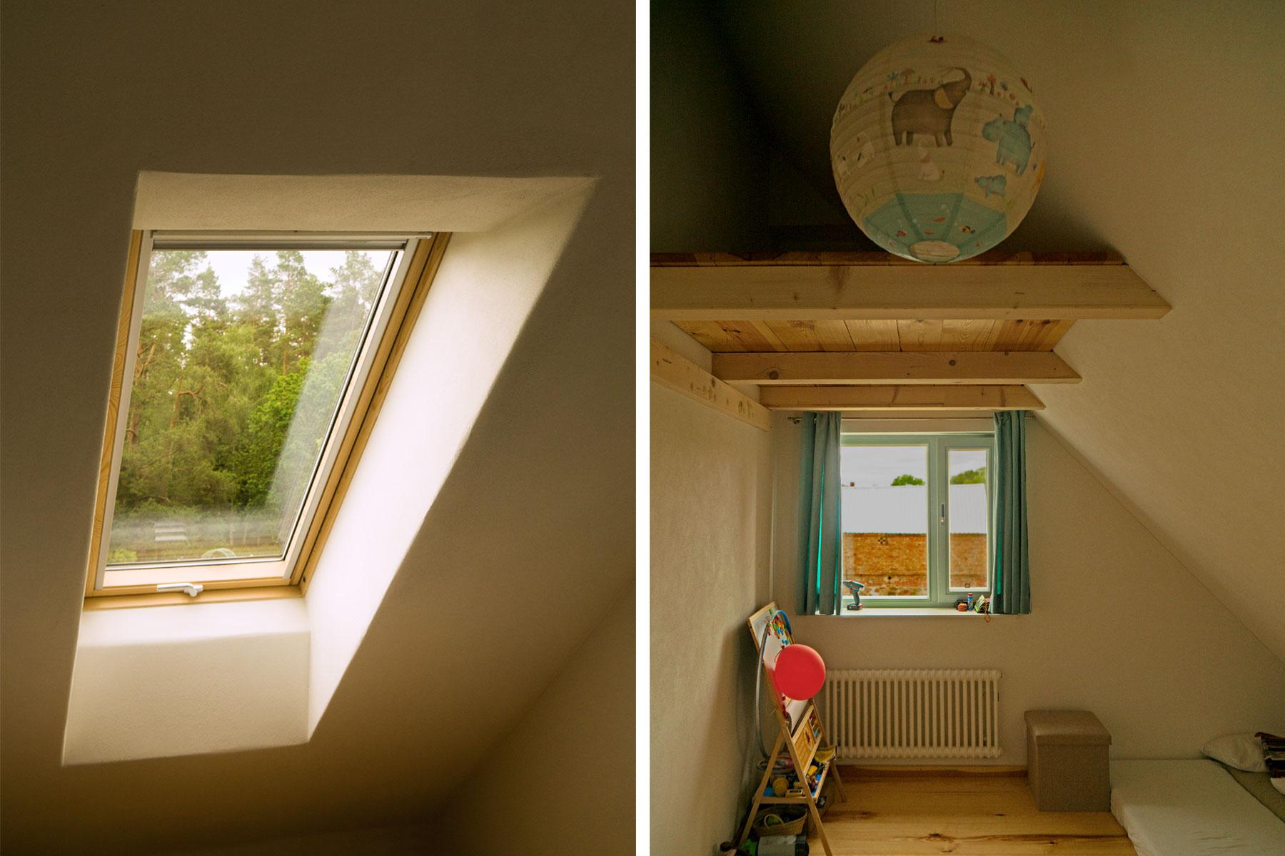 Holzrahmenbau Dachflächenfenster