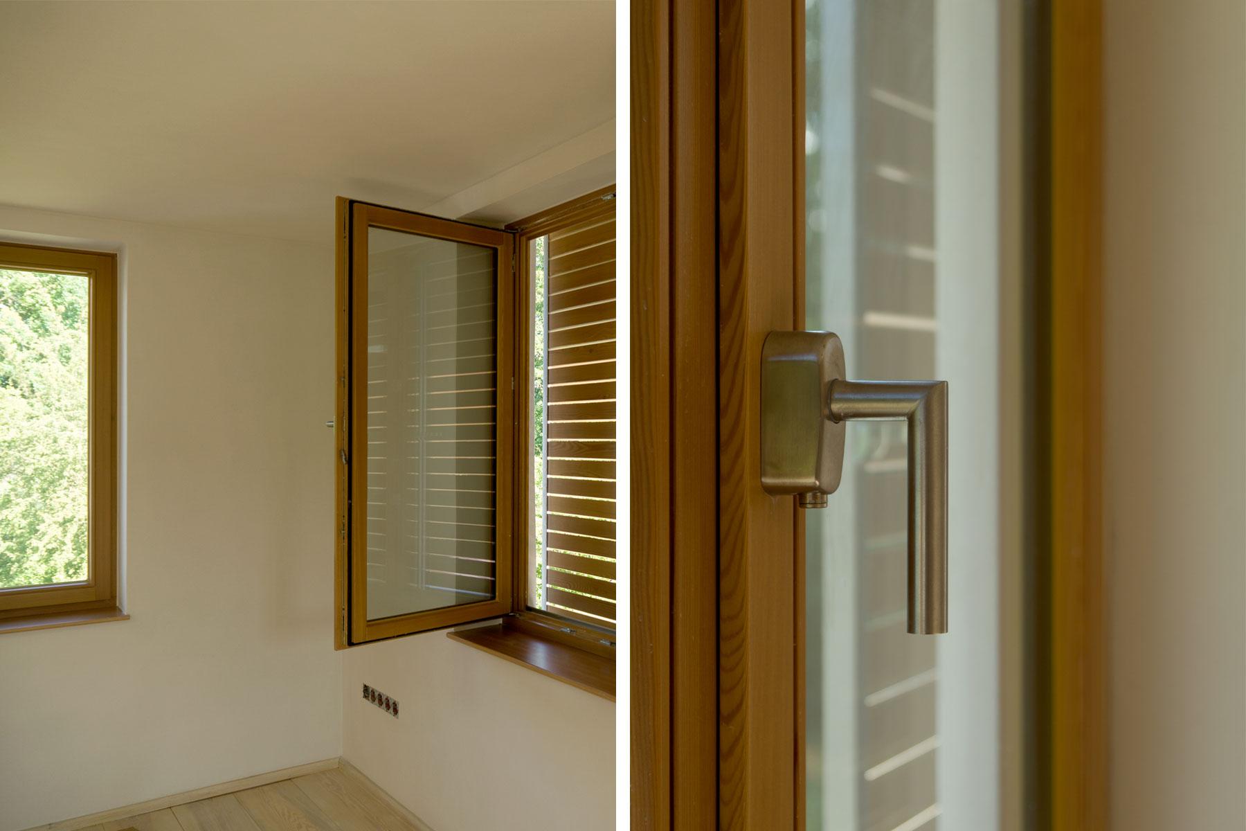 Lehmputz Holzfenster