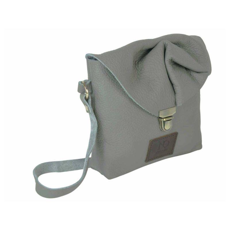 Emily Rose Mini Grey Leather Crossbody Bag image