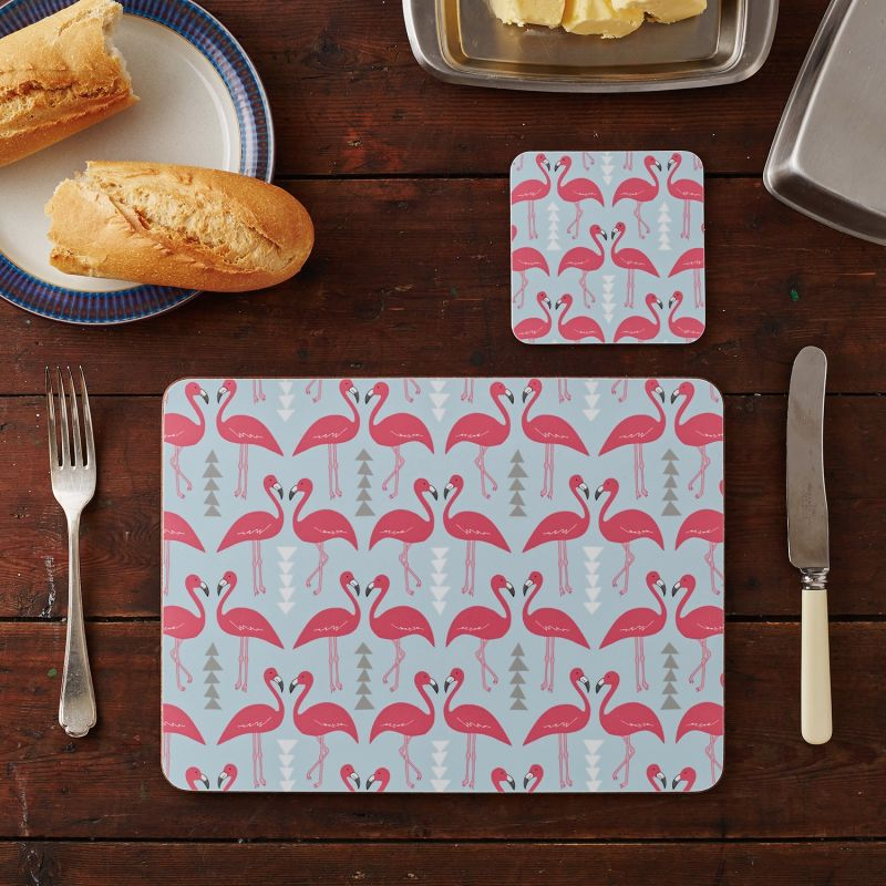 Flamingo Flourish Placemats Set Of Four Large image
