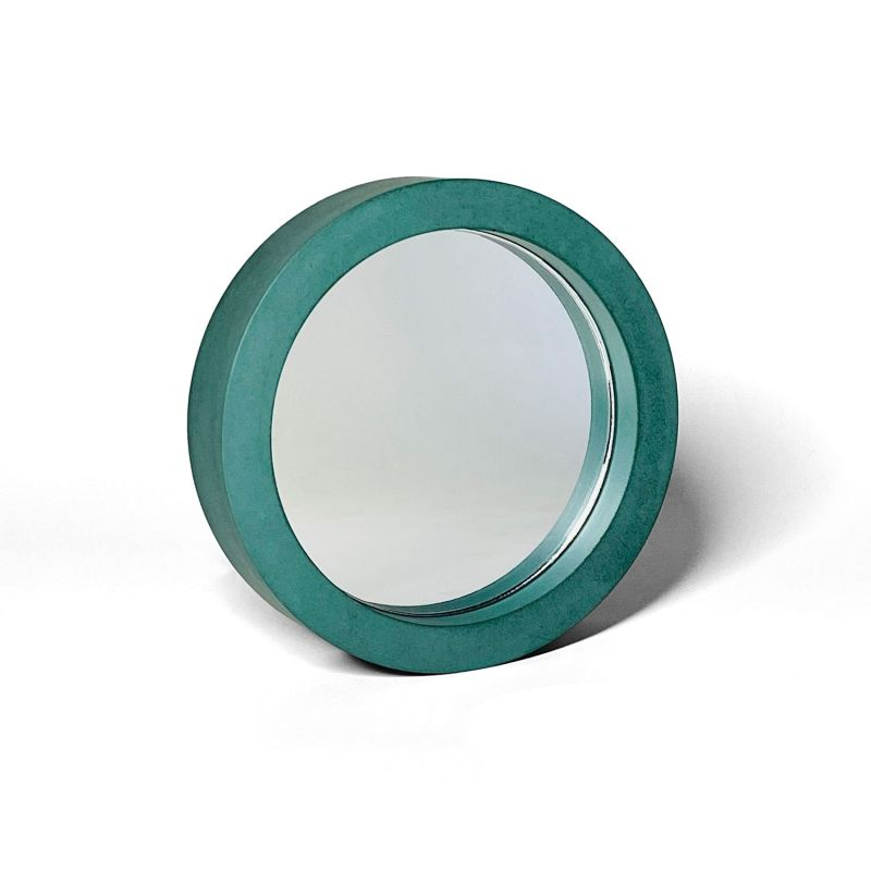 Teal Concrete Table Mirror image
