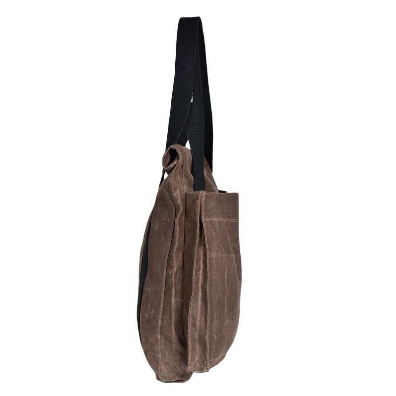 The Basto Tote Bag - Dark Oak Waxed Canvas image