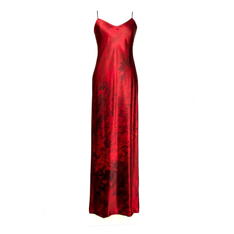 Nuit Rouge Silk Slip Dress image